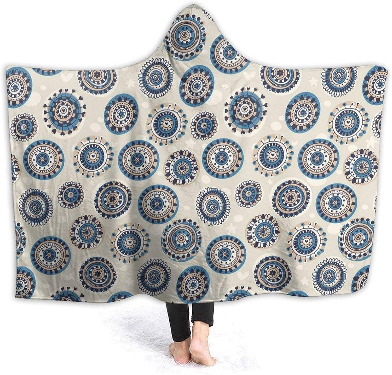 Hooded Blanket Anti-Pilling Flannel Cute Mo Art and security Folk Mandala Cheap SALE Start