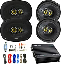 "Car Speaker and Amp Combo: 4x Kicker CSC6934 900-Watt 6"" x 9"" Inch CS Series.."