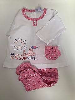 Yatsi 7029- Conjunto dos piezas para tu Bebé Recién Nacido. Color: Rosa. Talla 1 Mes