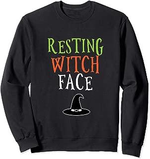Resting Witch Face Halloween Sweatshirt