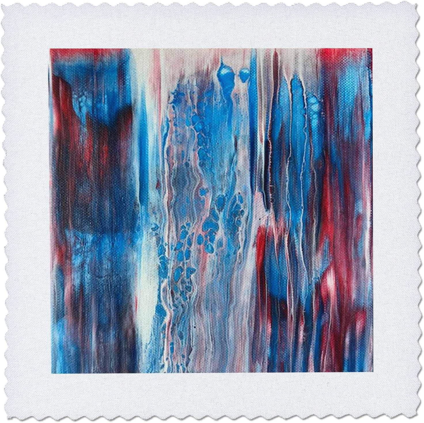 3dRose Abstract Max 57% OFF Acrylic Paint Pour White Blue Swipe Red Waterfal Directly managed store