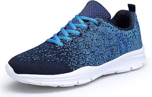 DAFENP Zapatillas de Running para Hombre Mujer Zapatos para Correr y Asfalto Aire Libre y Deportes Calzado Ligero Tra...