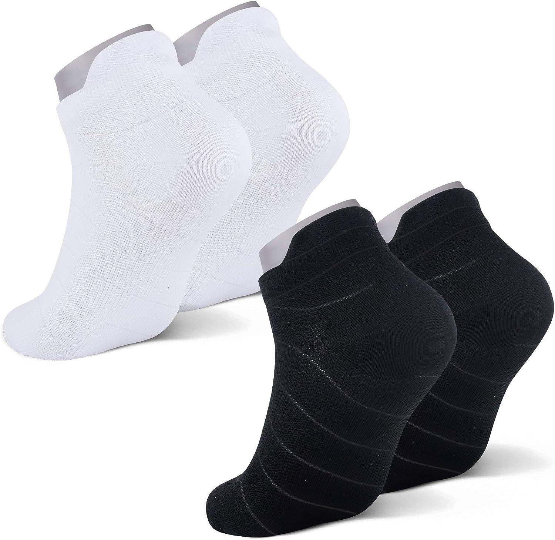 Athletic Compression Running Socks for Men & Women - Low Cut Sport Socks