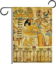 Tuinvlag, Decor Yard Banner Boerderij Outdoor Decoratie Oude Egyptische Papyrus Verticaal 28x40 Inch