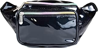 SoJourner Bum Bag Fanny Pack Glitter - Black   for women, men and kids   cute fits small medium large