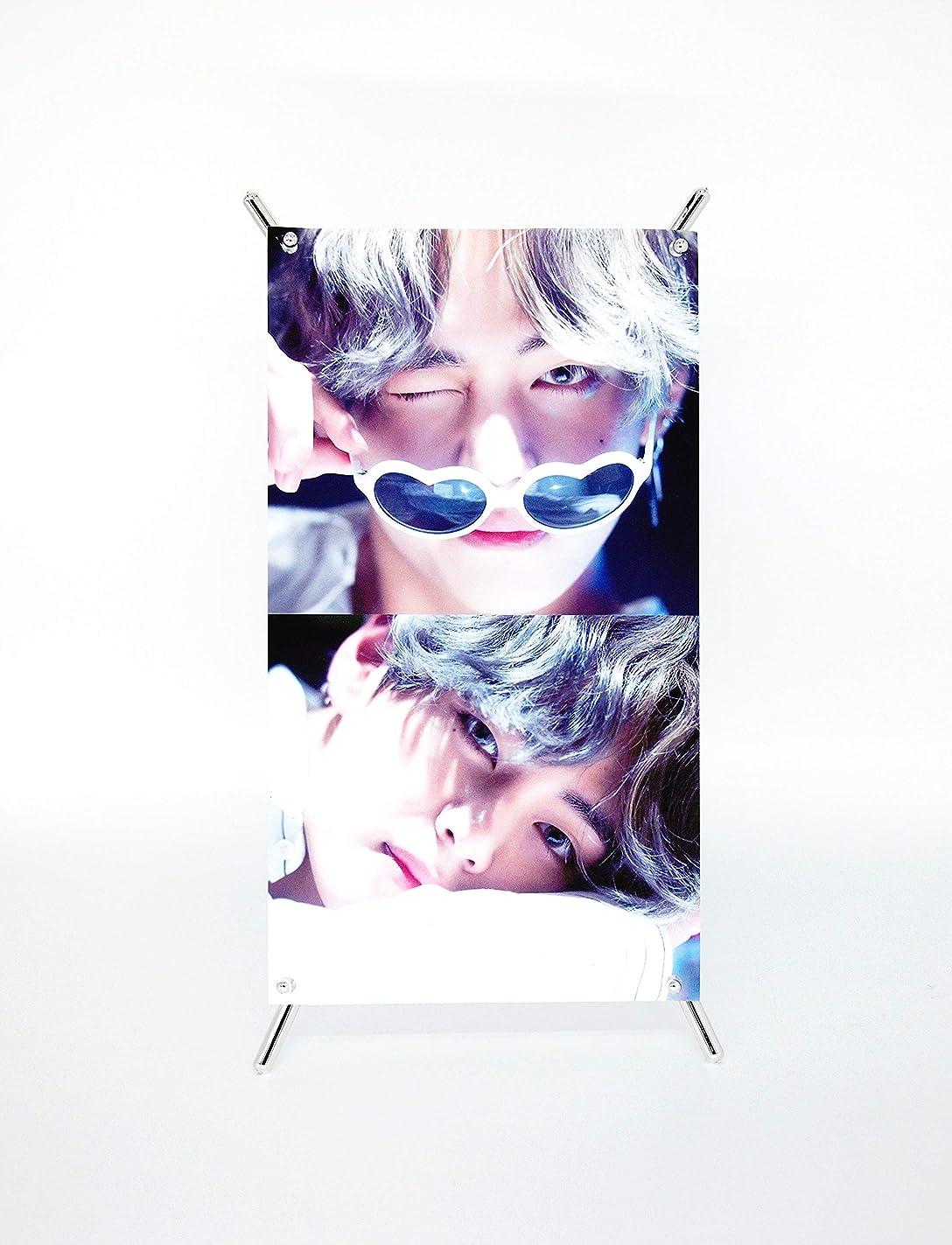 BigHit Entertainment BTS Bangtan Boys - X Banner(V Photo) + Stand Photos(4 x 6 inches) 3pcs (V) vlf20269606