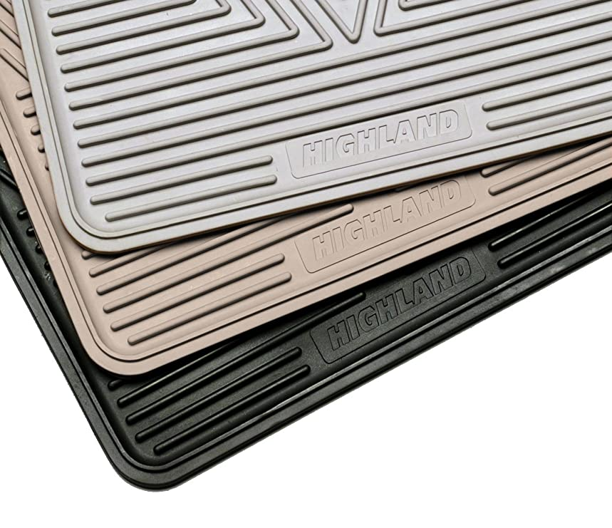 Highland 4604900 All-Weather Black Front Seat Floor Mat