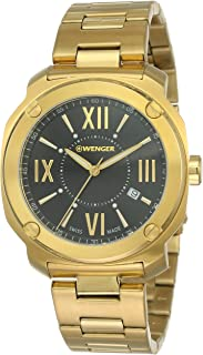 Wenger Men's Quartz Watch analog Display and Stainless Steel Strap, 01.1141.123
