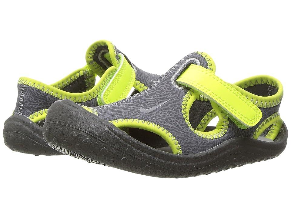 Nike Kids Sunray Protect (Infant/Toddler) (Dark Grey/Wolf Grey/Volt) Boy
