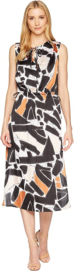 Kenneth Cole New York Triple Tie Column Dress