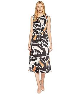 Triple Tie Column Dress