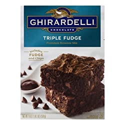 GHIRARDELLI Triple Fudge Brownie Mix, 19 oz