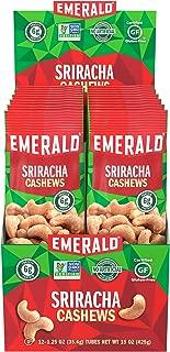 Emerald Nuts, Sriracha Cashews, 1.25 Ounce Tubes (12 count)