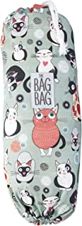 Plastic Bag Holder | Grocery Shopping Bags Carrier | Dispenser | Storage | Organizer. Multiple Designs/Sizes - Kitty Collective, Large