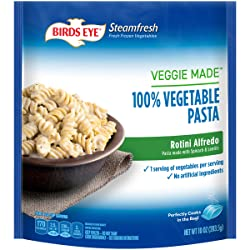Birds Eye Steamfresh Veggie Made 100% Vegetable Pasta, Rotini Alfredo, 10 Ounce (Frozen)