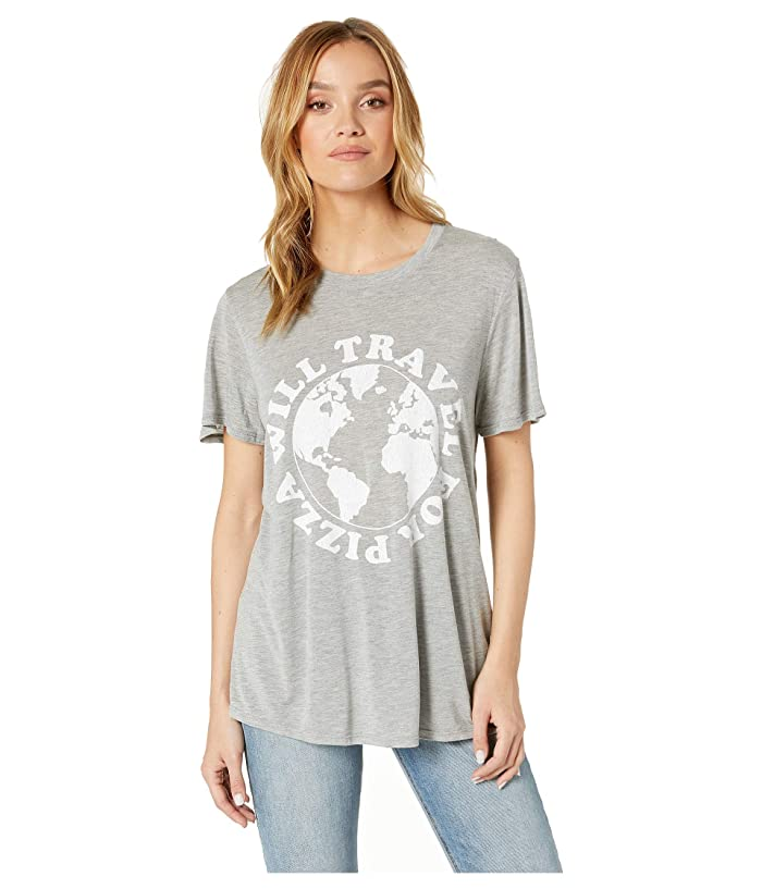 Show Me Your Mumu Oliver Tee (Will Travel For Pizza Graphic) Women