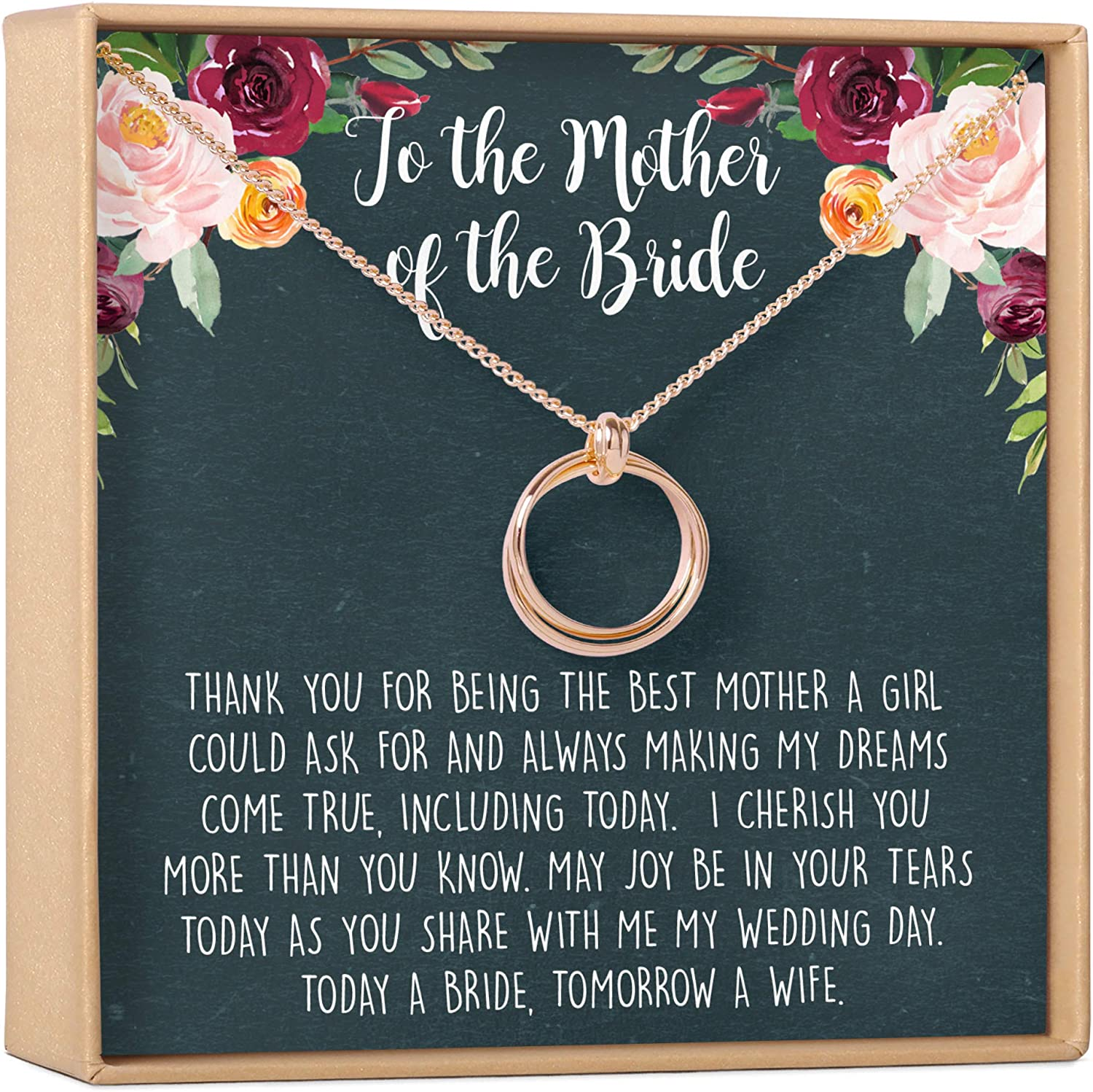Dear Ava Mother of The Bride Gift Necklace - 2 Asymmetrical Link