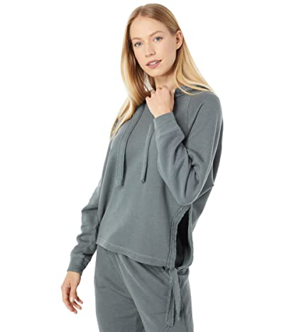 Chaser Linen French Terry Side Tie Pullover Hoodie