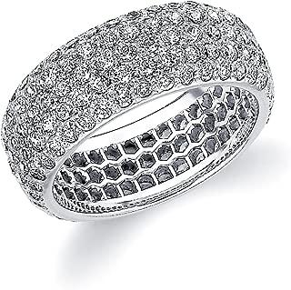 Platinum Diamond Micro Pave Eternity Ring (3.0 cttw, F-G Color, VVS1-VVS2 Clarity)