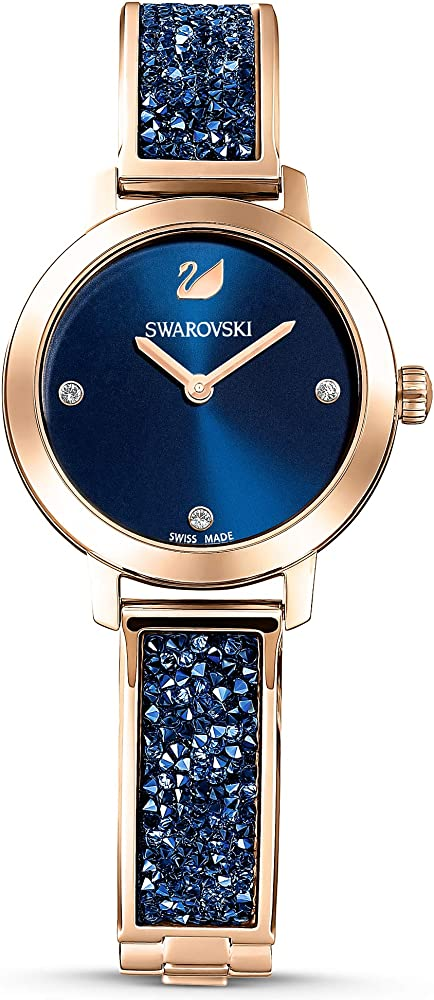 Swarovski orologio cosmic rock per donna,in acciaio placcato oro rosa e cristalli 5466209