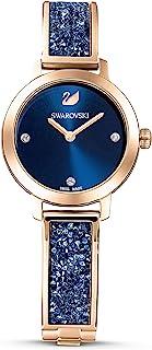 SWAROVSKI Women's Women's Cosmic Rock Rose Gold Quartz Watch with Metal Strap, Blue, (5466209)