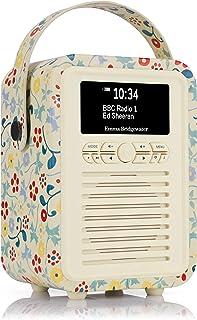VQ Retro Mini DAB & DAB+ Digital Radio with FM & AM, Bluetooth & Alarm Clock – Emma Bridgewater Spring, (VQ-Mini-EBSPR/AUS)