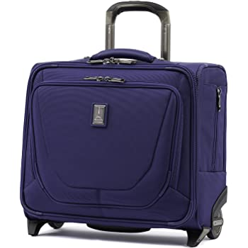 Travelpro Crew 11-Rolling Underseat Tote Carry-On Bag, Indigo, 16-Inch