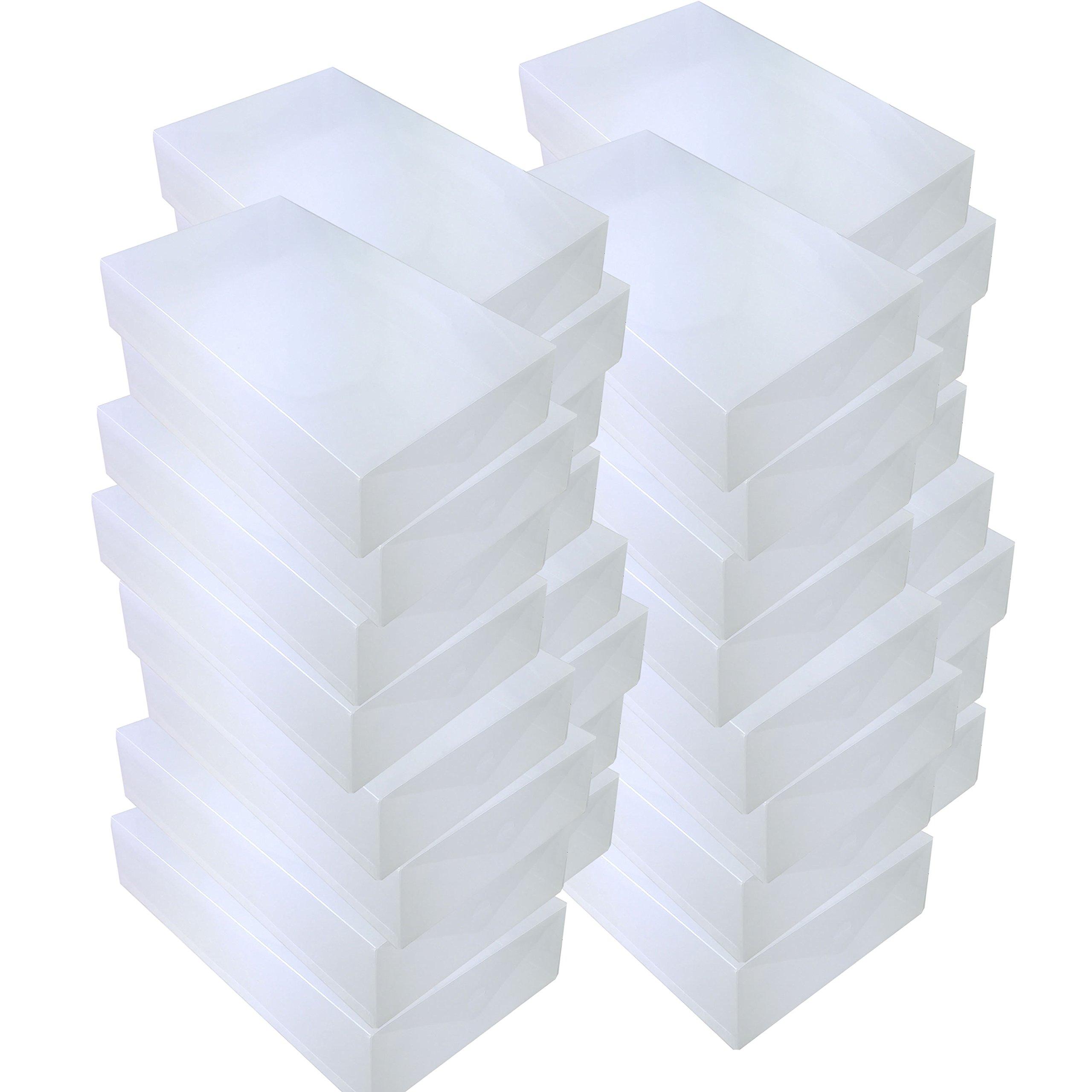 DynaSun 30x PP436 Cajas de Almacenaje Para Botas Apilable Plegable Contenedor Organizador Transparente para Hombres Damas y Señoras: Amazon.es: Hogar
