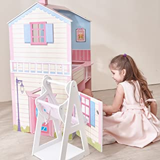 Olivia's Little World - Classic Wooden Nursery Center Hand-Crafted Dollhouse for Baby Dolls, Pink, 34.00