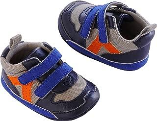 Carter's Baby Boy Soft Sole Sneaker, Blue/Grey/Orange, 9-12 Months Crib Shoe US