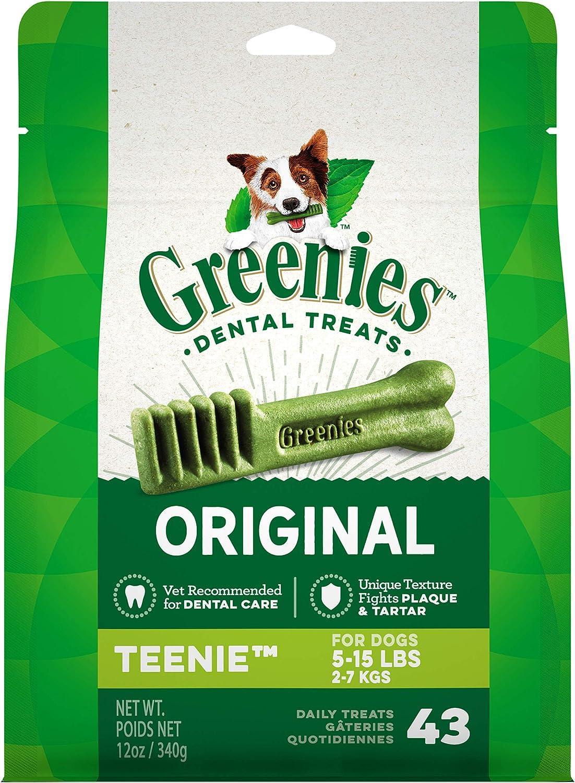 Ranking TOP2 Greenies Original Teenie Natural half Dental Treats 5-15 Dog lb.
