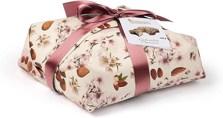 Colomba classica (750 gr) - dolce pasquale artigianale, impasto morbido e fragrante, scorze d'arancia candite B08WHGWGBC
