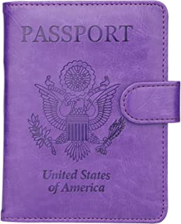 Dedicated And Cute Unicorn Leather Passport Holder Cover Case Blocking Travel Wallet