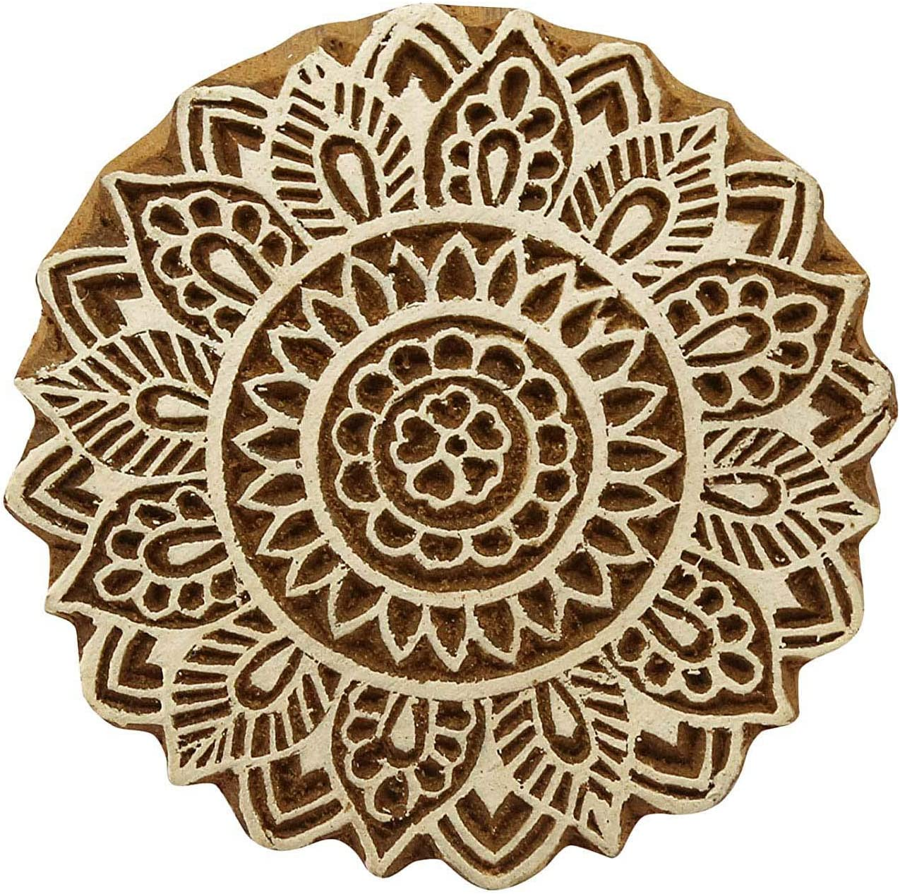 sold out Sharvgun Floral Pattern Wooden Printing Indian Hand Blocks Carve Limited time trial price
