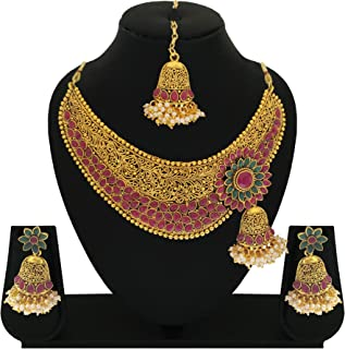b0952b1f1 Matushri Art Indian Traditional Copper Necklace Set for Women and Girls