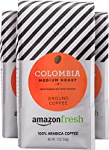 AmazonFresh Colombia Ground Coffee, Medium Roast, 12 Ounce (Pack of 3)