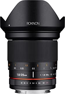 Rokinon 20mm f/1.8 AS ED UMC Wide Angle Lens for Pentax