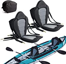 2 Pack of Kayak Seat Deluxe Padded Canoe Backrest Seat Sit On Top Cushioned Back Support SUP Paddle Board Seats with Detac...