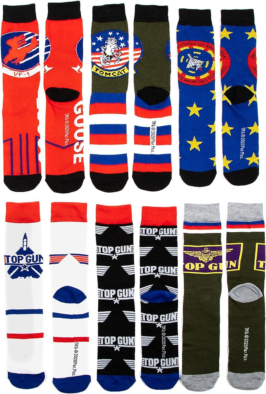 Men's Top Gun 6pk Casual Crew Socks 8-12