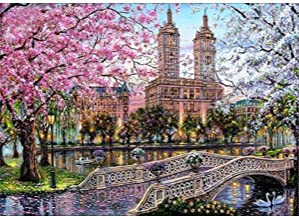 UPMALL DIY 5D Diamond Painting by Number Kits, Full Drill Crystal Rhinestone Embroidery Pictures Arts Craft for Home Wall Decoration London Street 11.8 x 15.7 Inch