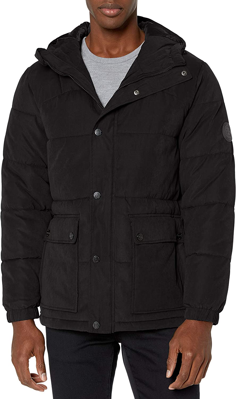 Perry Ellis Men's Heavy Microfiber Puffer Jacket
