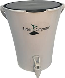 Exaco Trading Co. UCsmall-B Exaco Urban Composter, 2.1 Gal, Black