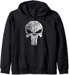 Marvel Punisher Skull Symbol Distressed Sweat à Capuche