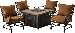 Hanover SUMMRNGHT5PC Summer Nights 5-Piece Patio Fire Pit Set Outdoor Furniture, 40