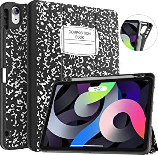 Soke Case for iPad Air 4 10.9 Inch 2020 / iPad Pro 11 2018 with Pencil Holder - [Full Body Protection + Apple Pencil Charg...