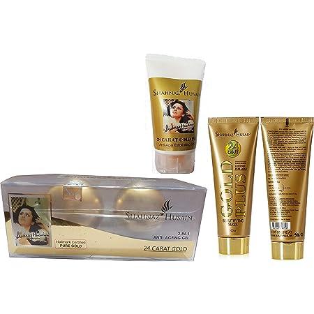 Shahnaz Husain 24 Carat Gold Facial Kit, Pack of 3