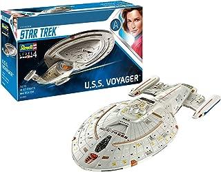 Revell GmbH 04992/4992 Revell 04992 4992 1:670 U.S.S. Voyager NCC-74656 Plastic Model Kit Star Trek James Kirk, Multicolour, 1/670