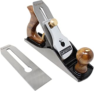 No. 4 Smoothing Bench Plane with 2-Inch cutter - Fully Adjustable Wood Hand Planer, Includes 2 blades