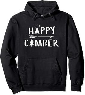Happy Camper Camping Hoodie | Camp Shirt For Men Women Pullover Hoodie