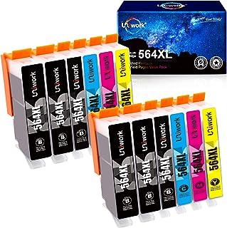 Uniwork Compatible Ink Cartridge Replacement for HP 564 564XL for Photosmart 7525 7520 7510 C309a C310a B8550 D5460 C6350 ...